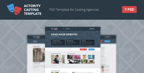 Actority PSD Template for Casting Agencies