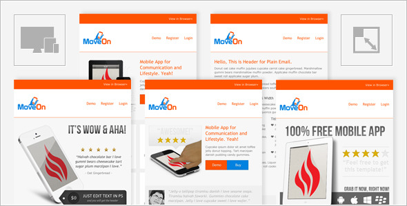 MoveOn - Mobile Friendly and Responsive HTML Email