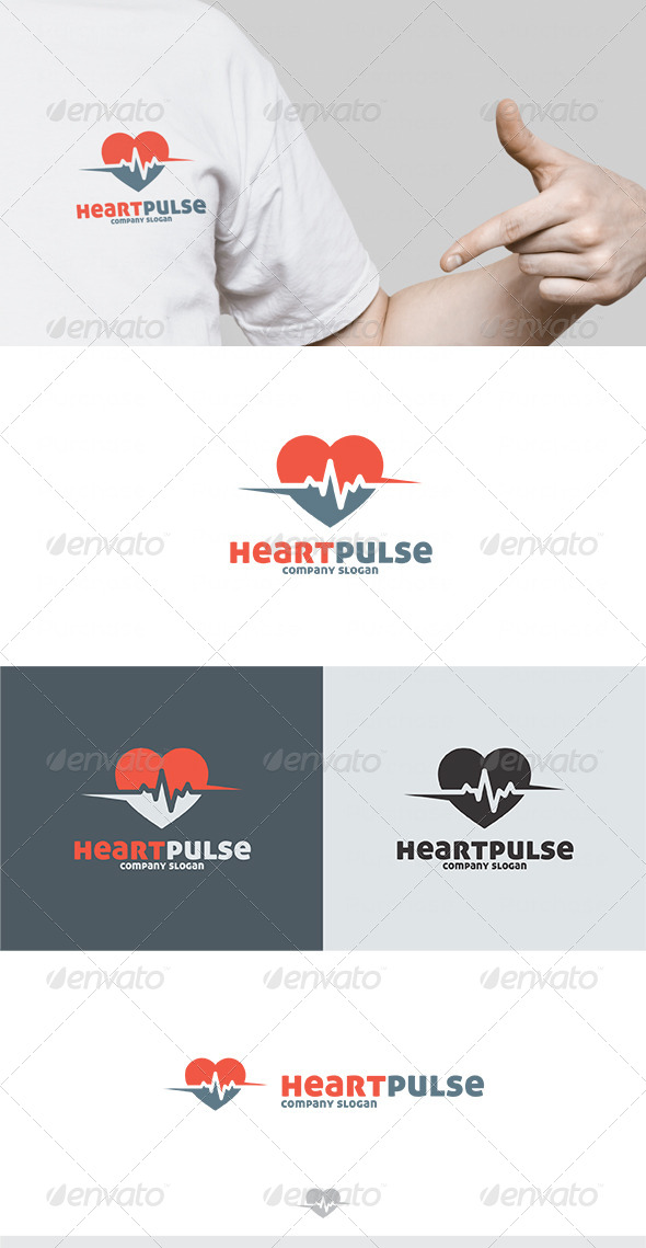 GraphicRiver Heart Pulse Logo 4628325