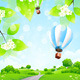 Green Landscape with Balloons - GraphicRiver Item for Sale