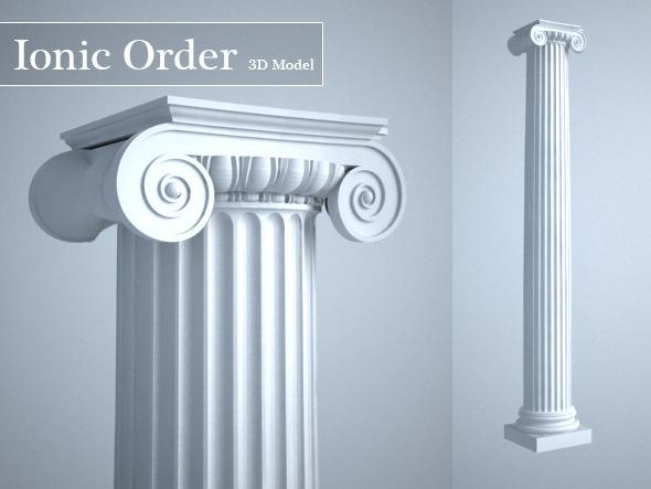 3DOcean Grecian Ionic Order Column High LOD model 4628728