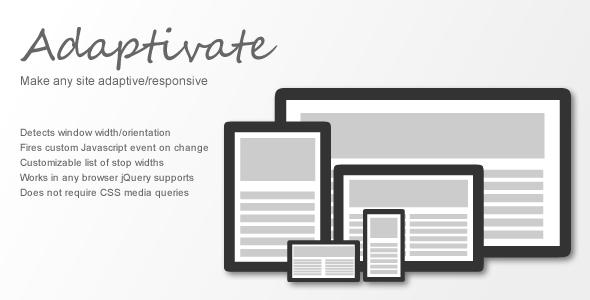 CodeCanyon Adaptivate Make Any Site Adaptive Responsive 4628858