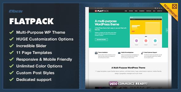 ThemeForest FlatPack MultiPurpose Business WordPress Theme 4624428