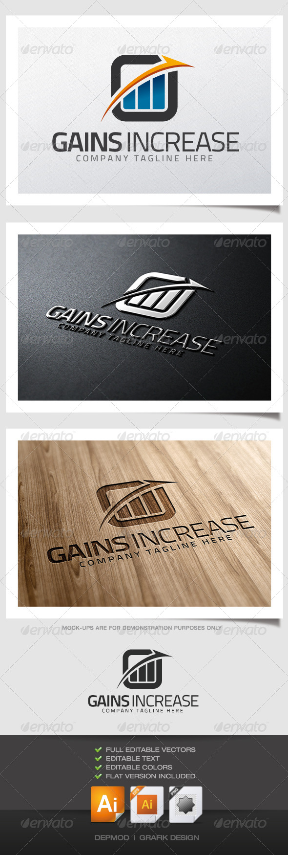 Gains Increasing Logo - Symbols Logo Templates