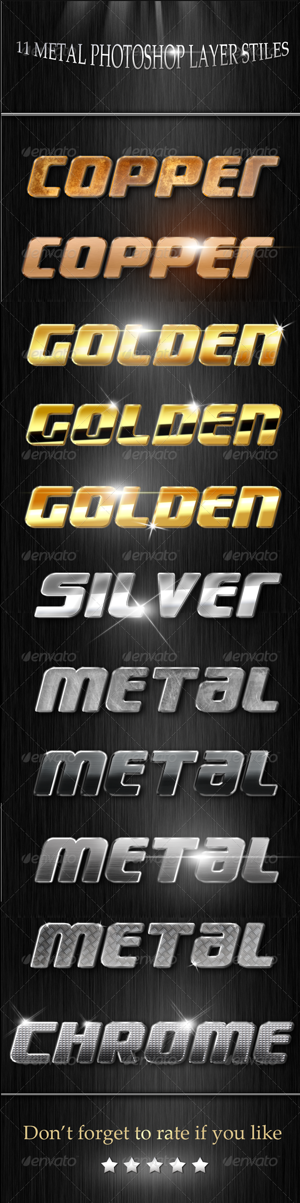 GraphicRiver Metal Layer styles 4628889