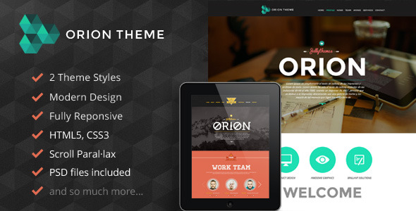 Orion Responsive Parallax One Page Portfolio