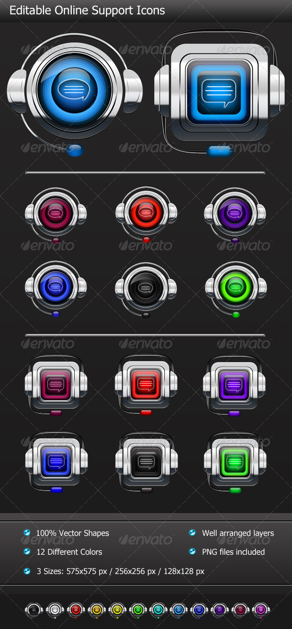 GraphicRiver 2 Online Support Icons 4546423