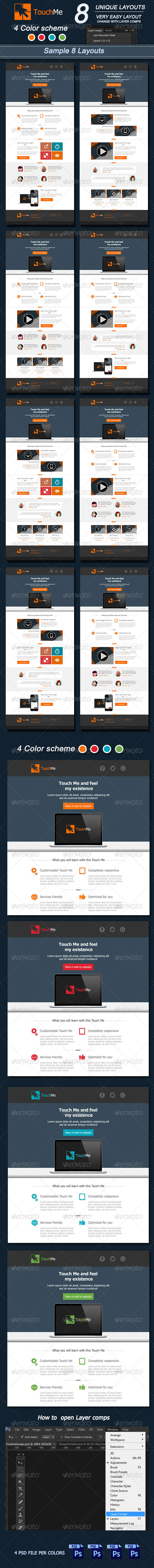 Touch Me E-mail Template Design : Vol2 - E-newsletters Web Elements