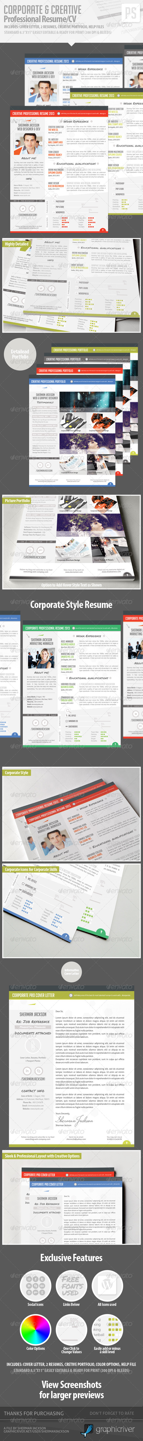 GraphicRiver Resume CV Creative & Corporate 4628975