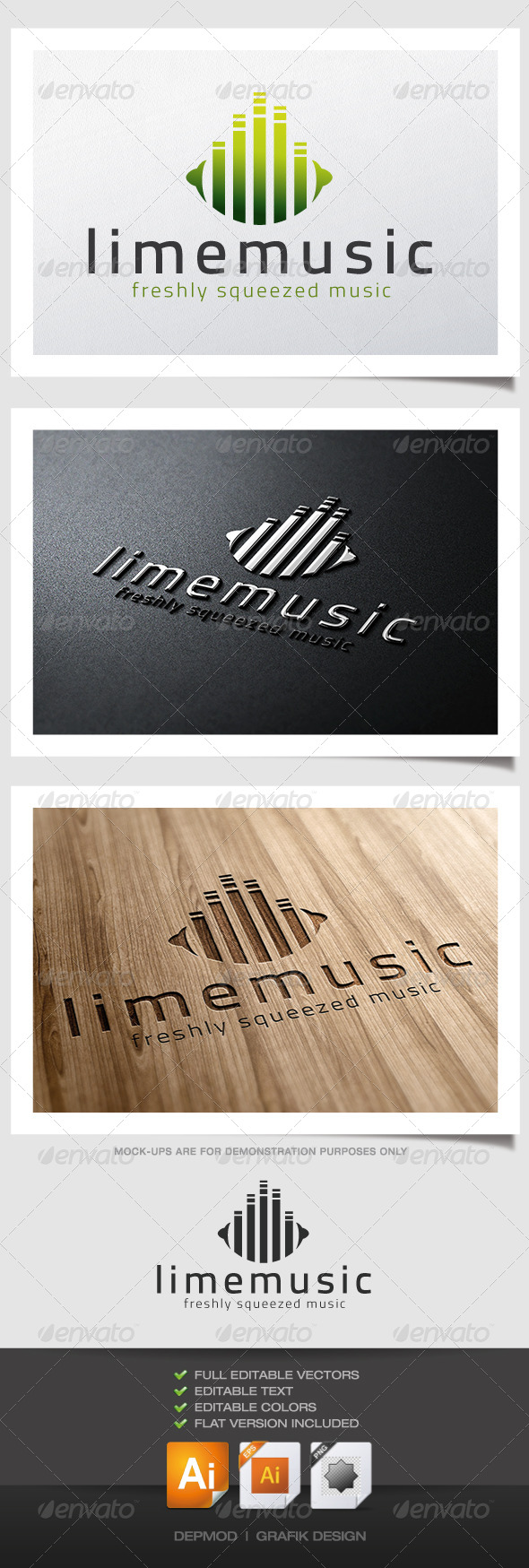 GraphicRiver Lime Music Logo 4629186