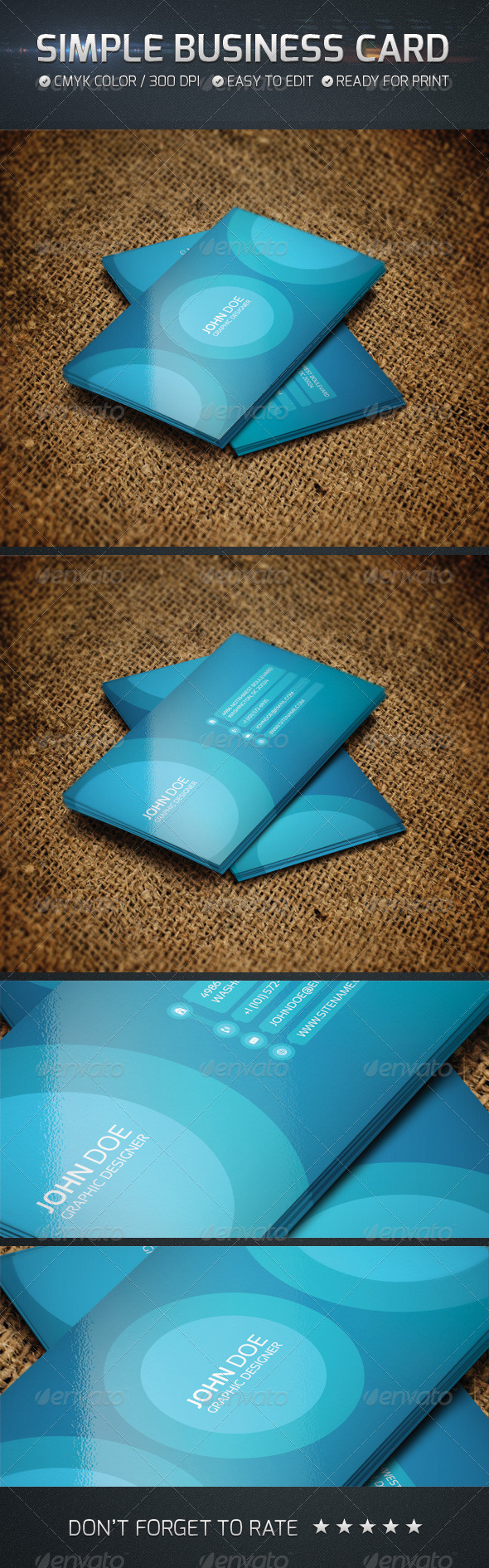 GraphicRiver Simple Business Card 4558764