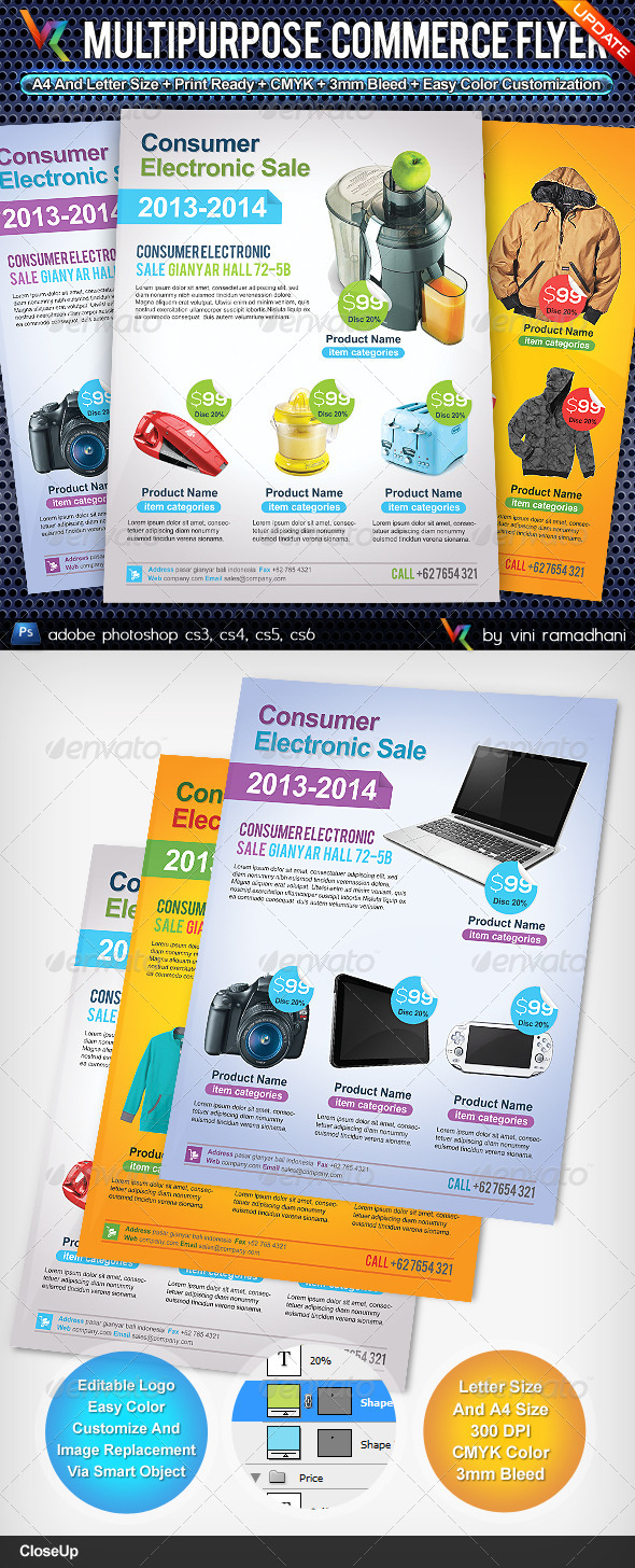 GraphicRiver Multipurpose Commerce Flyer Advert 4629325