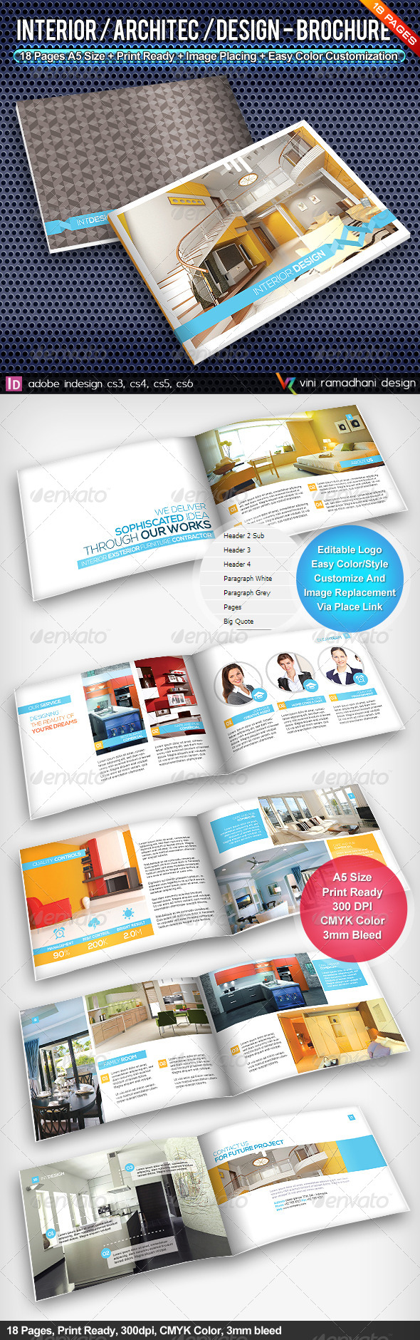 GraphicRiver Interior Achitecture Design Brochure