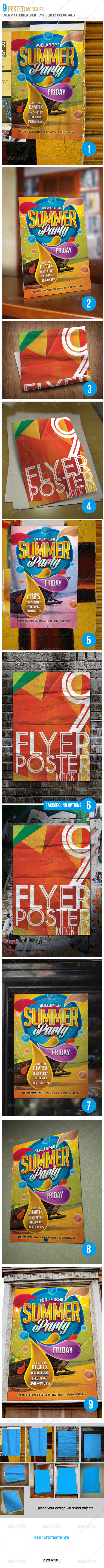 Poster Mock-Up Set - Product Mock-Ups Graphics