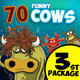 Funny Cows Illustrations Ver.3 - GraphicRiver Item for Sale