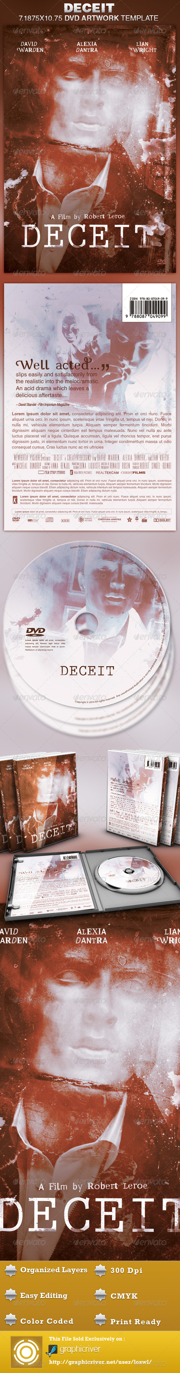 Deceit DVD Artwork Template - CD & DVD Artwork Print Templates