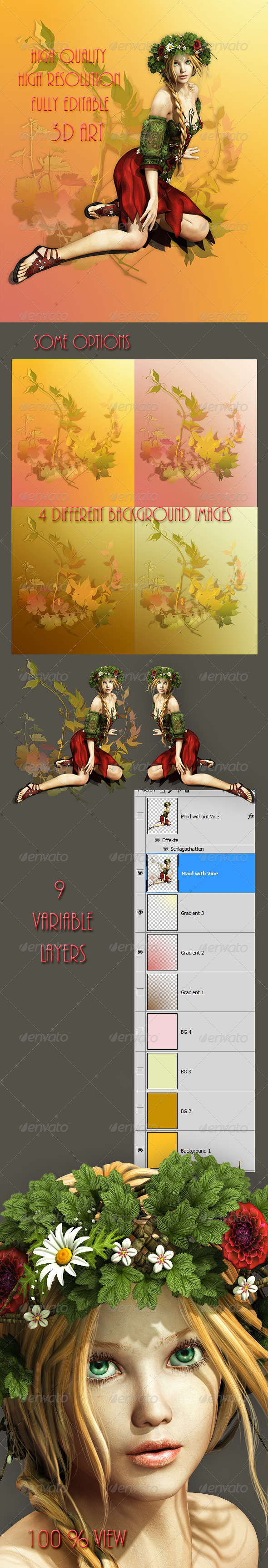 GraphicRiver Summer Maid 4629575