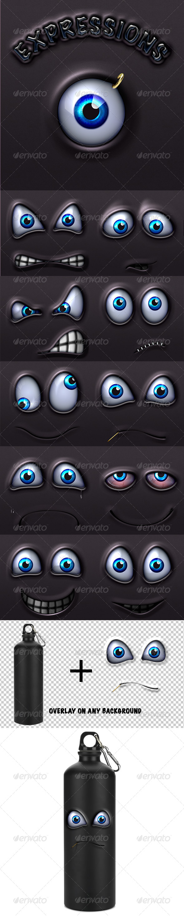 GraphicRiver Character Expressions Pack 2 4630069