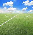 Soccer football field stadium grass line ball background texture - PhotoDune Item for Sale