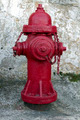 Red Fire Hydrant with Grunge Background - PhotoDune Item for Sale