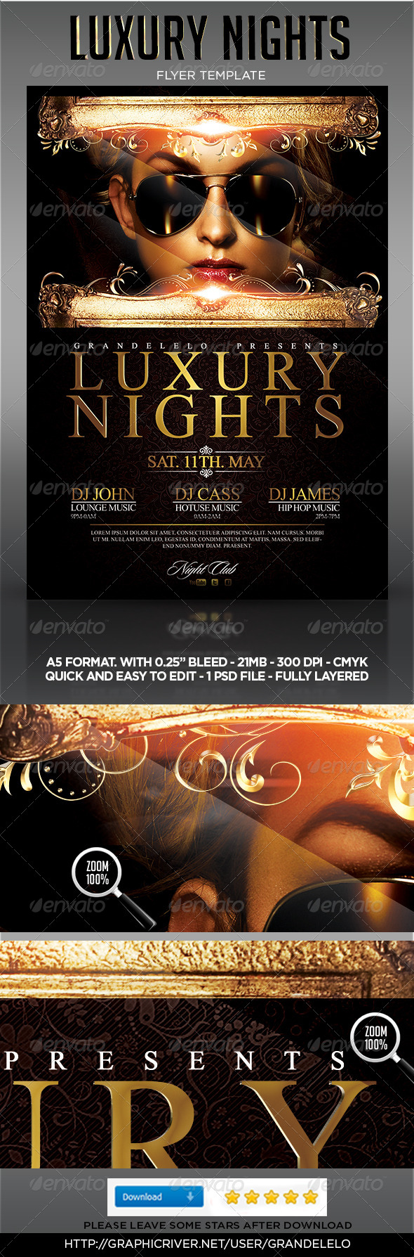 GraphicRiver Luxury Night Party Flyer Template 4630203