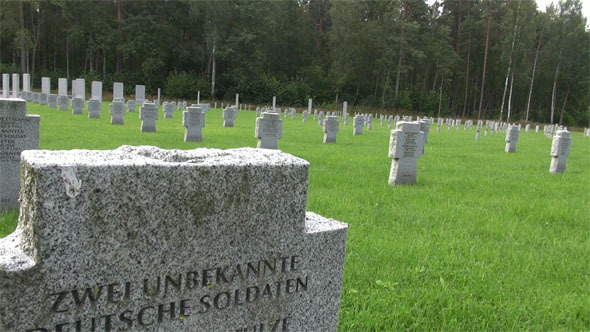 German Soldiers World War II Latvia Cemetery