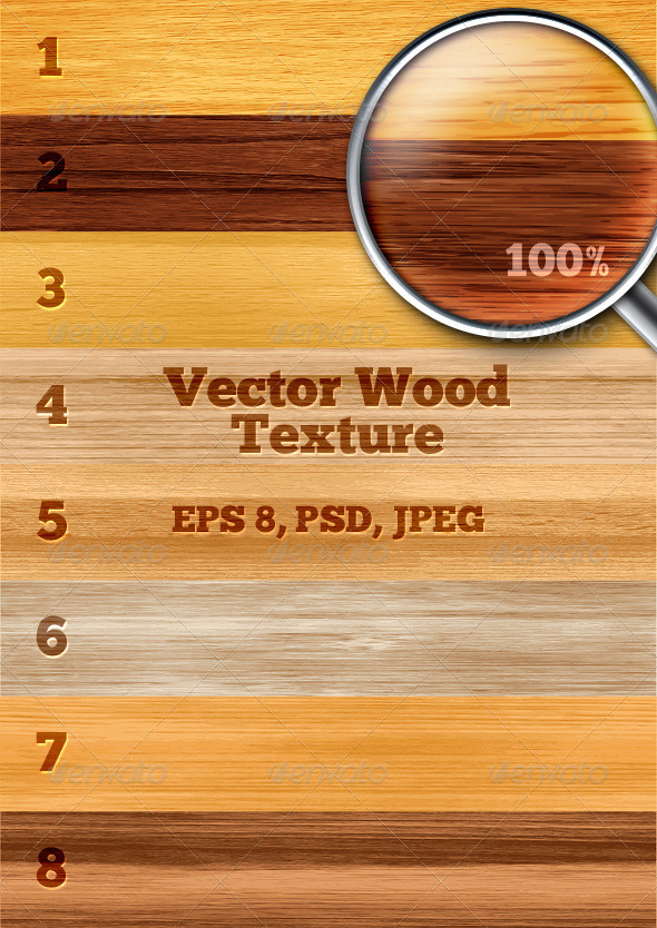 GraphicRiver Vector Wood Texture 4630355