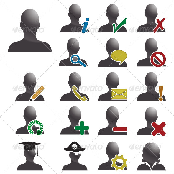 GraphicRiver Users Database Vector Icons 4630408