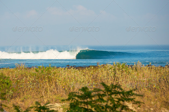Perfect Surfing Wave - Stock Photo - Images