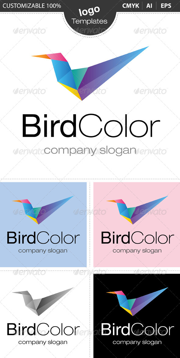 GraphicRiver Bird Color Logo 4630609