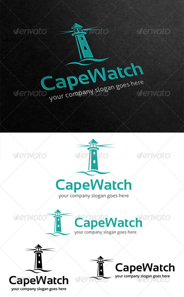 GraphicRiver Cape Watch Lighthouse Logo 4624923
