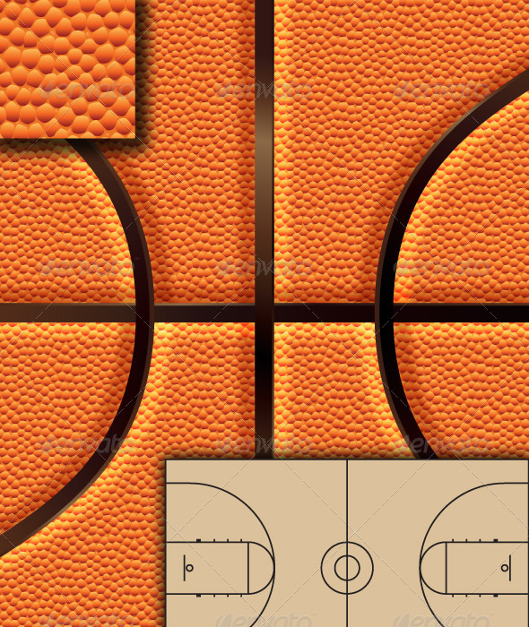 GraphicRiver Basketball Background Set & 4630825