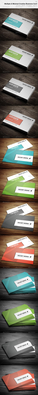 GraphicRiver Multiple & Minimal Creative Business Card 12 4558958