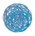 abstract round glossy torus shape in mixed blue purple on white - PhotoDune Item for Sale