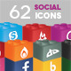 62 Social Media Icons Lego - GraphicRiver Item for Sale