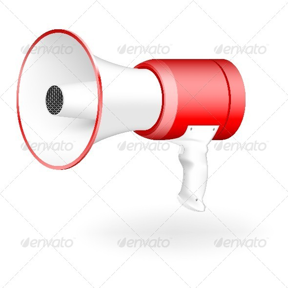 GraphicRiver Red and White Megaphone 4631443