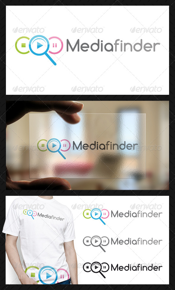 GraphicRiver Media Finder Logo Template 4631459