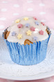 cupcake with icing and colorful stars - PhotoDune Item for Sale