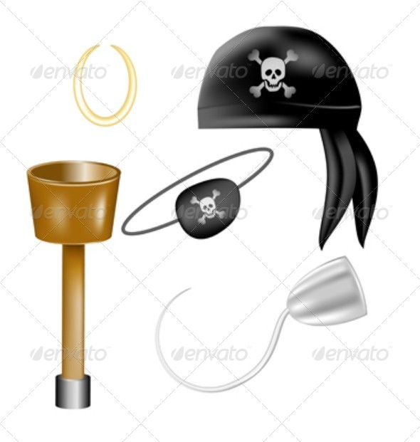 GraphicRiver Set of Pirate Items 4631559