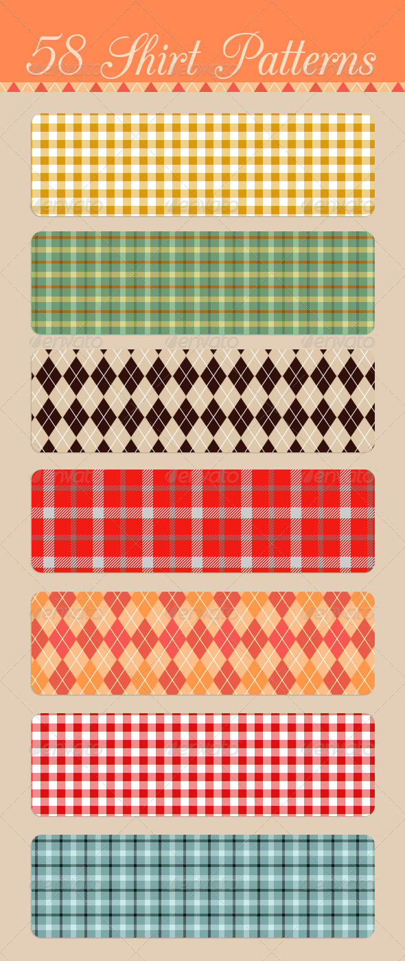 GraphicRiver Seamless Shirt Patterns 4631577