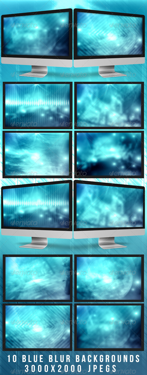 Blurred Blue Backgrounds - Abstract Backgrounds