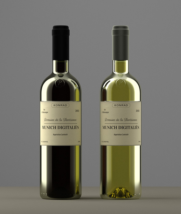 3DOcean Photoreal Wine Bottles 4631858