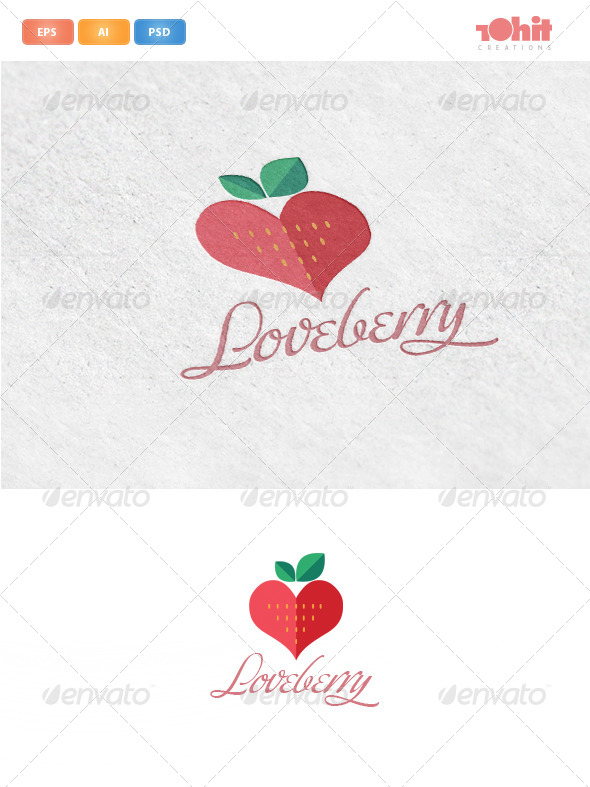 GraphicRiver Loveberry Logo Template 4613436