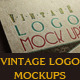 Vintage Logo Mock Ups - GraphicRiver Item for Sale