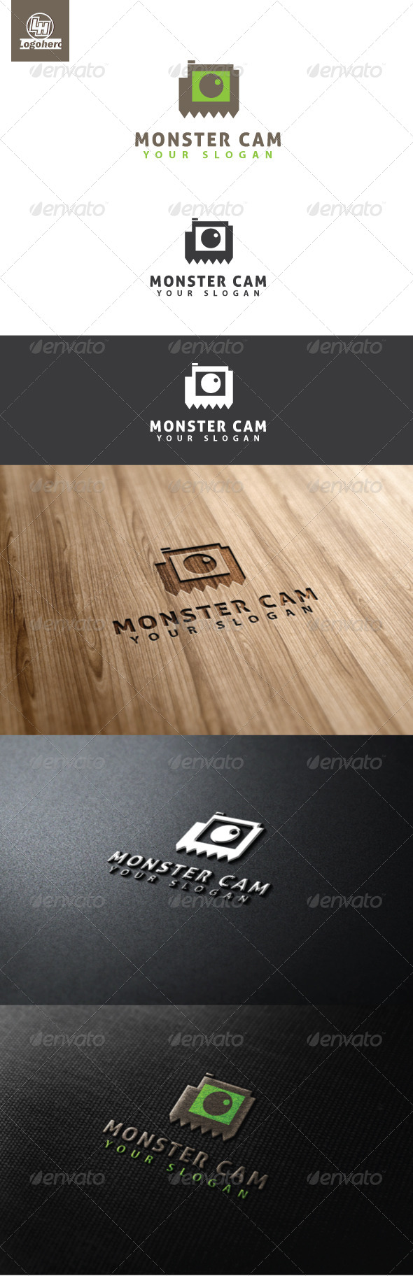 GraphicRiver Monster Cam Logo Template 4632209