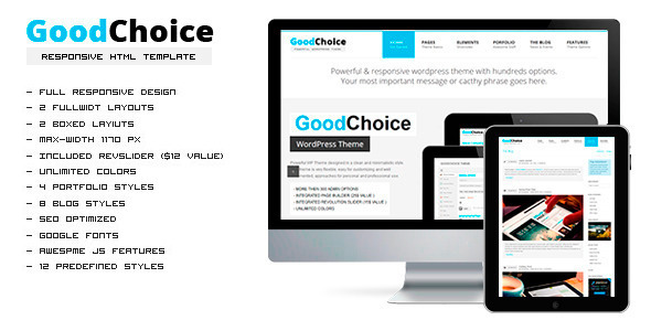 GoodChoice Responsive HTML Template - Corporate Site Templates