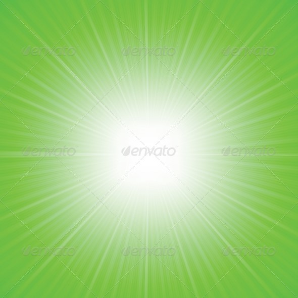 GraphicRiver Rays Green Abstract Background 4632375