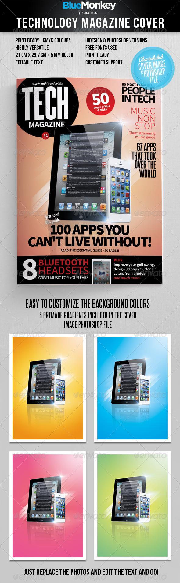 GraphicRiver Tech Magazine Cover Template 4632429
