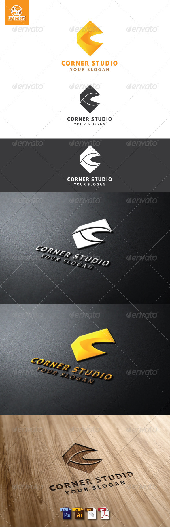 Corner Studio Logo Template