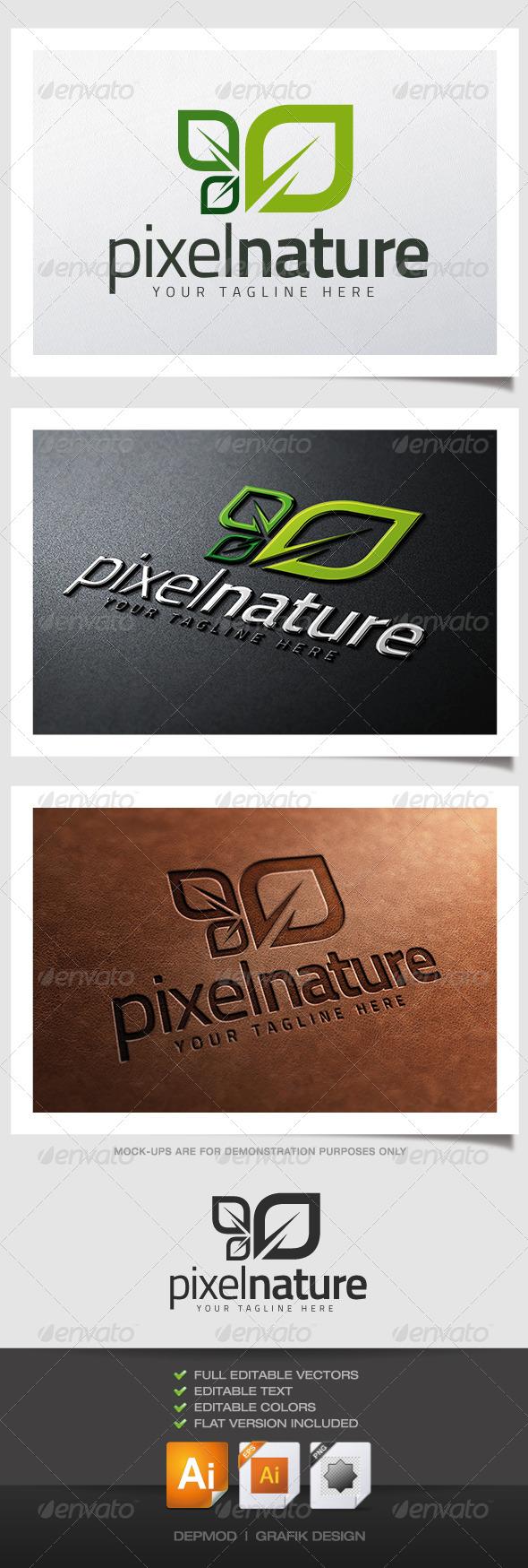 Pixel Nature Logo - Nature Logo Templates